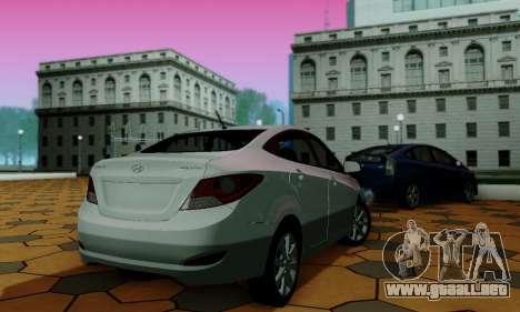 Hyndai Solaris para la vista superior GTA San Andreas