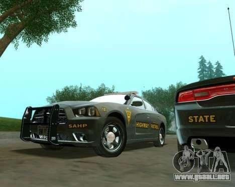 Dodge Charger 2012 SAHP para la visión correcta GTA San Andreas