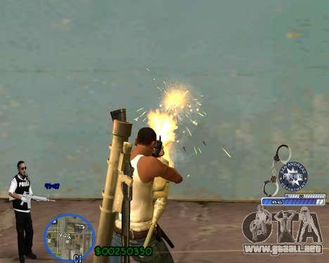 C-HUD For Police Departament para GTA San Andreas tercera pantalla