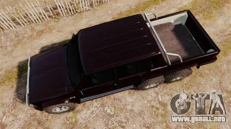 Jeep Carver 6X6 para GTA 4 visión correcta