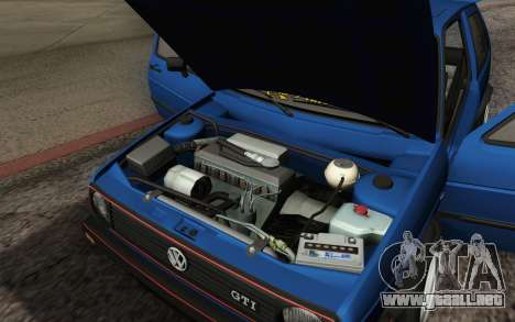 Volkswagen Golf MK2 LowStance para vista inferior GTA San Andreas