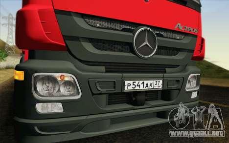 Mercedes-Benz Actros para la visión correcta GTA San Andreas