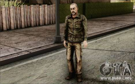 Pete from Walking Dead para GTA San Andreas tercera pantalla