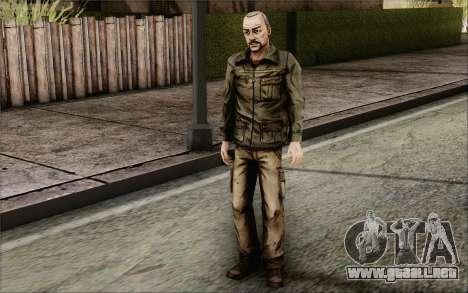 Pete from Walking Dead para GTA San Andreas tercera pantalla