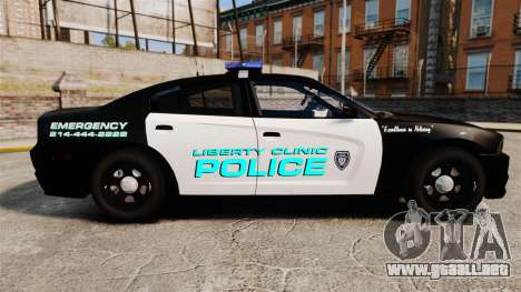 Dodge Charger 2011 Liberty Clinic Police [ELS] para GTA 4 left