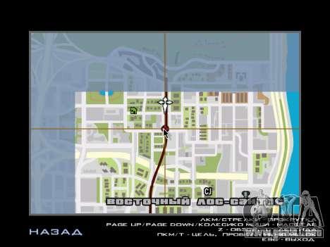 AutoDriver para GTA San Andreas segunda pantalla