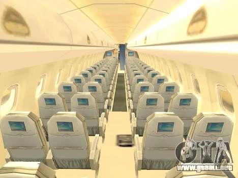 Embraer 175 HOUSE para vista inferior GTA San Andreas