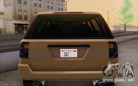 Gallivanter Baller из GTA V para vista inferior GTA San Andreas