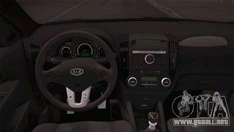 Kia Ceed 2011 SA Plates para GTA San Andreas vista hacia atrás