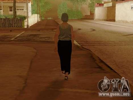 Mujer de edad avanzada para GTA San Andreas octavo de pantalla