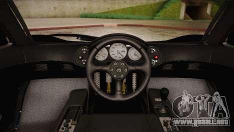 McLaren F1 Police Edition para GTA San Andreas vista hacia atrás