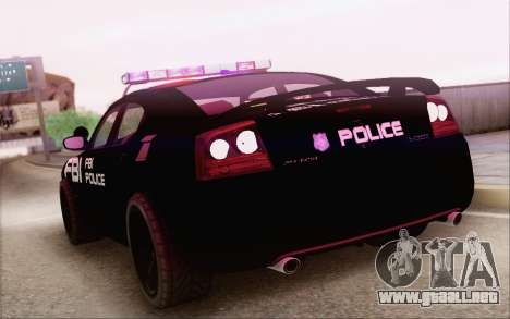 Dodge Charger SRT8 FBI Police para GTA San Andreas left