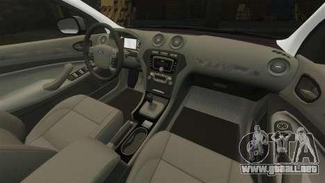 Ford Mondeo Hungarian Police [ELS] para GTA 4 vista superior