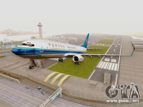 China Southern Airlines Boeing 737-800 para GTA San Andreas left