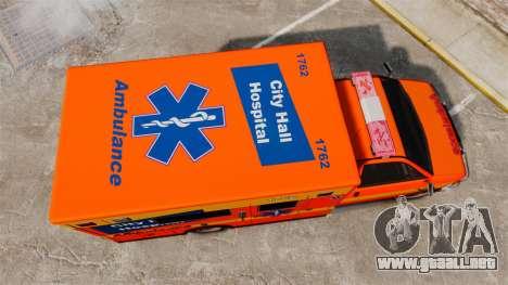 Brute CHH Ambulance para GTA 4 visión correcta