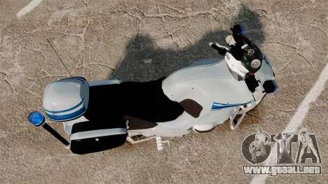 BMW R1150RT Police municipale [ELS] para GTA 4 visión correcta