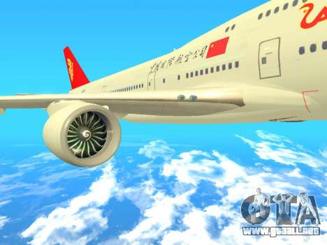 Boeing 747 Air China para la visión correcta GTA San Andreas