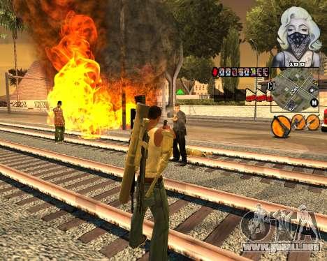 C-HUD Marilyn Monroe para GTA San Andreas segunda pantalla