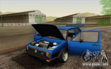 Volkswagen Golf MK2 LowStance para la vista superior GTA San Andreas
