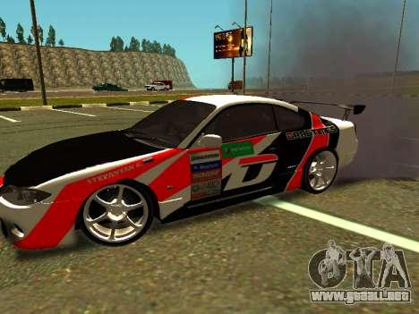 Nissan Silvia S15 Team Dragtimes para GTA San Andreas left