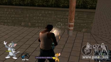 C-HUD Tom and Jerry para GTA San Andreas quinta pantalla
