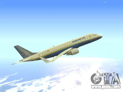 Embraer 175 HOUSE para visión interna GTA San Andreas