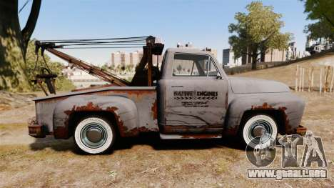 GTA IV TLAD Vapid Tow Truck para GTA 4 left