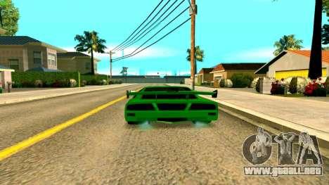 Nuevo Turismo para GTA San Andreas vista posterior izquierda