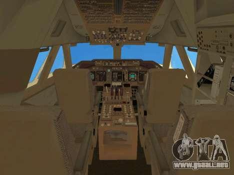 Boeing 747 Air China para GTA San Andreas interior