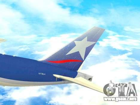 Boeing 777 LAN Cargo para vista lateral GTA San Andreas