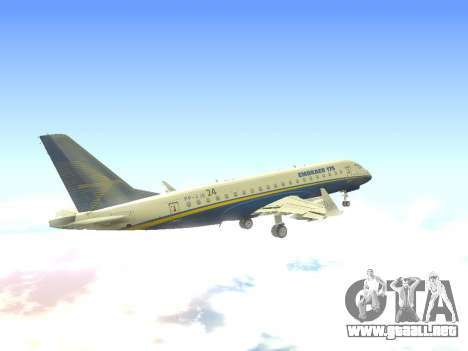Embraer 175 HOUSE para vista lateral GTA San Andreas
