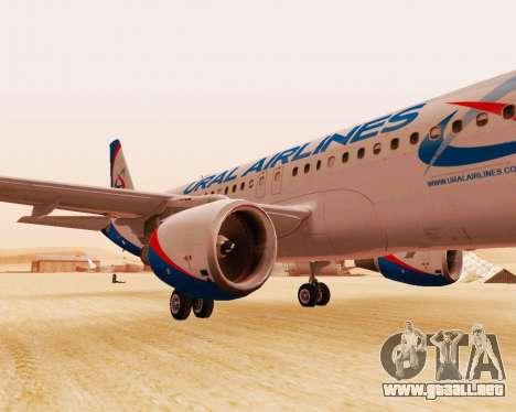Airbus A320-200 De Ural Airlines para GTA San Andreas left