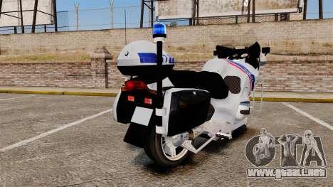 BMW R1150RT Police nationale [ELS] para GTA 4 visión correcta