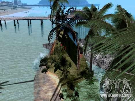 Nueva isla v1.0 para GTA San Andreas quinta pantalla