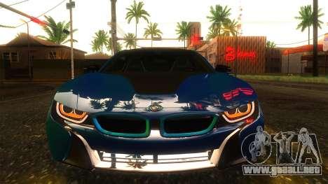 BMW I8 2013 para GTA San Andreas vista hacia atrás