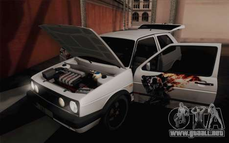 Volkswagen Golf 2 para vista lateral GTA San Andreas