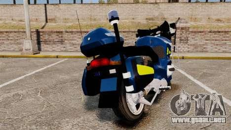 BMW R1150RT Gendarmerie [ELS] para GTA 4 Vista posterior izquierda