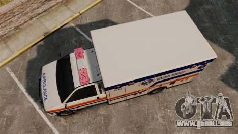 Brute CHMC Ambulance para GTA 4 visión correcta