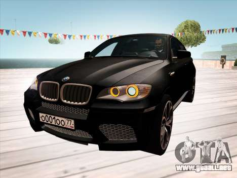 BMW X6M 2010 para GTA San Andreas interior