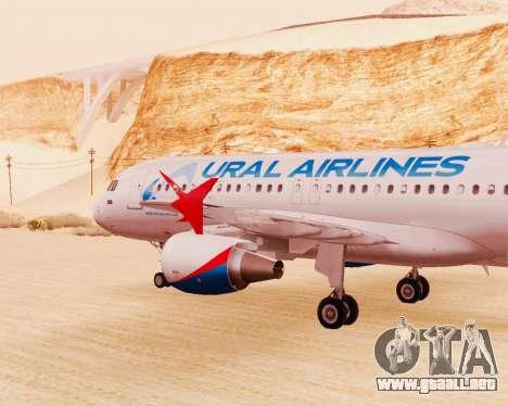 Airbus A320-200 De Ural Airlines para la visión correcta GTA San Andreas