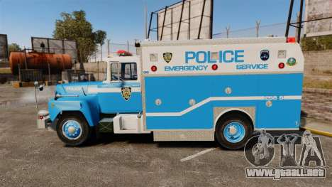 Mack R Bronx 1993 NYPD Emergency Service para GTA 4 left