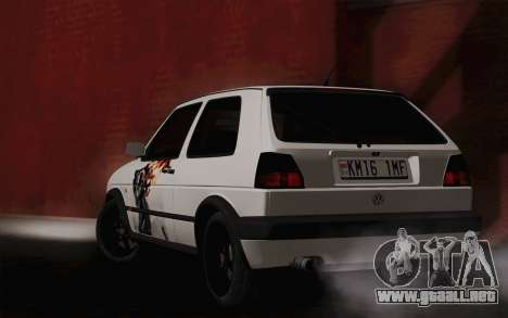 Volkswagen Golf 2 para GTA San Andreas left