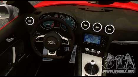 Audi TT RS v1.0 para GTA 4 vista hacia atrás