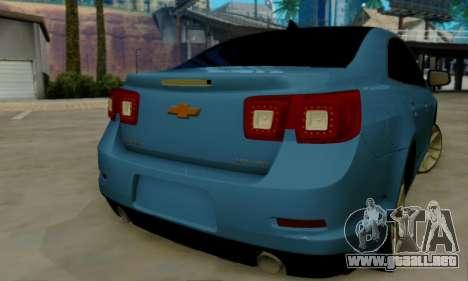 Chevrolet Malibu para GTA San Andreas vista hacia atrás
