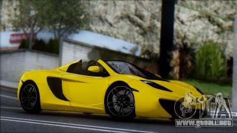 McLaren MP4-12C Spider para GTA San Andreas vista hacia atrás
