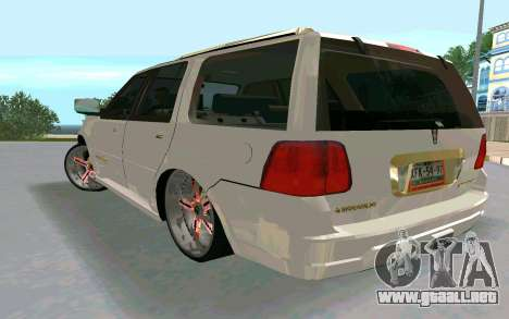 Lincoln Navigator DUB Edition para GTA San Andreas left