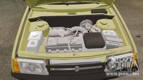 VAZ-Lada 21099 Satélite para GTA 4 vista interior