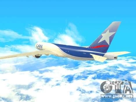 Boeing 777 LAN Cargo para visión interna GTA San Andreas