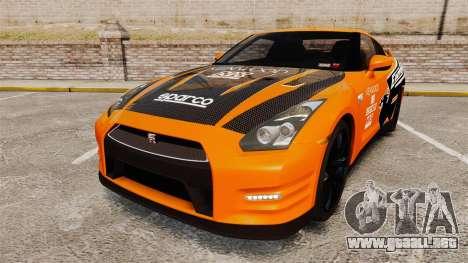 Nissan GT-R 2012 Black Edition NFS Underground para GTA 4
