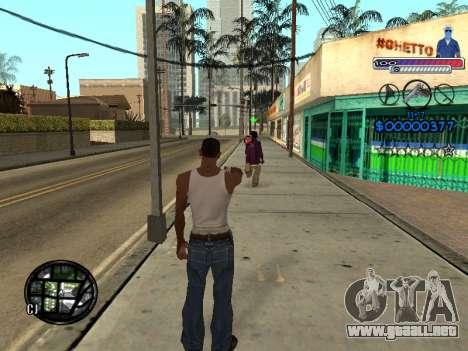 El nuevo C-HUD Ghetto para GTA San Andreas quinta pantalla